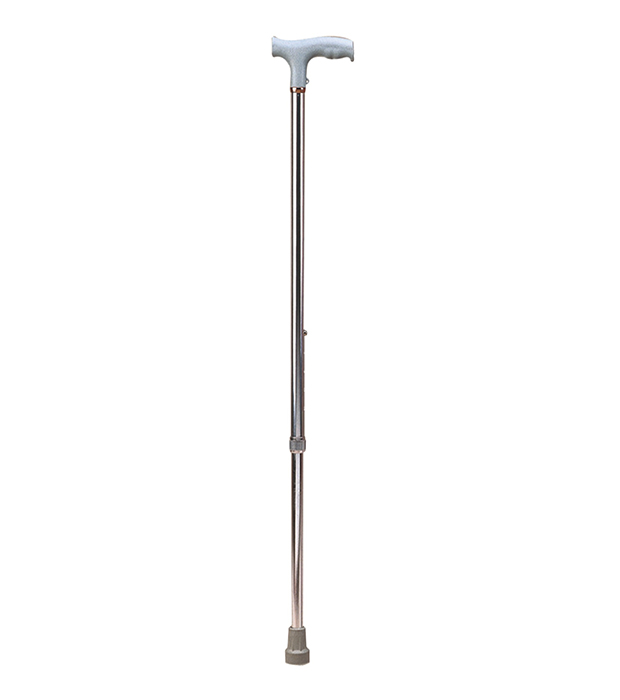 Bastón de aluminio 1 punto, altura ajustable.