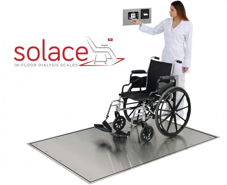 Báscula de diálisis en el piso